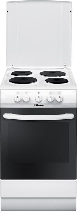 Фото - Плита электрическая Hansa FCEW53041, белый электрическая плита hansa fccw58210 белый