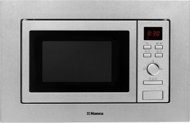 Встраиваемая микроволновая печь Hansa AMM20BEXH, серебристый