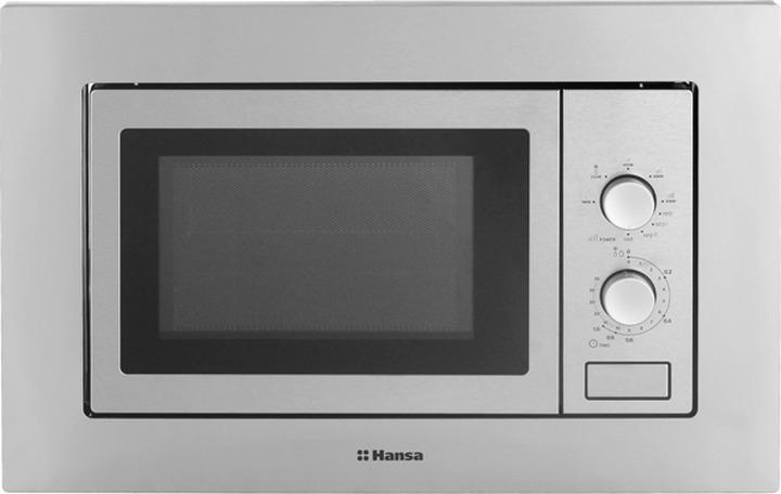 Встраиваемая микроволновая печь Hansa AMM20BMXH, серебристый