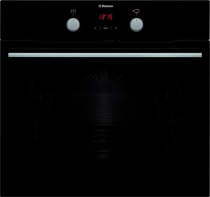 Встраиваемый духовой шкаф Hansa BOES68465, черный встраиваемый электрический духовой шкаф hansa boei64008