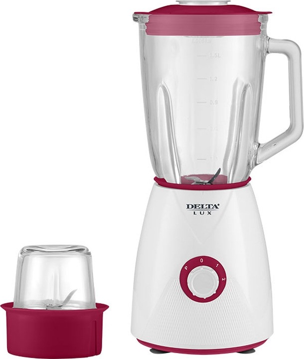 Блендер Delta Lux DL-7314, белый, бордовый himoskwa 350ml usb rechargeable portable fruit juicer 5v for travel mini soybean milk machine ice crusher food processor