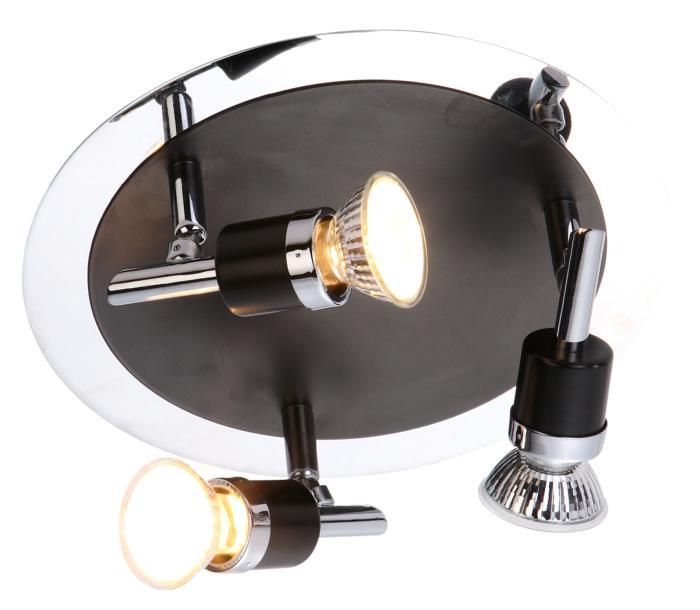 Настенно-потолочный светильник Globo New 57600-3, черный globo спот globo diamondbacks 57600 1 ikdz6i9