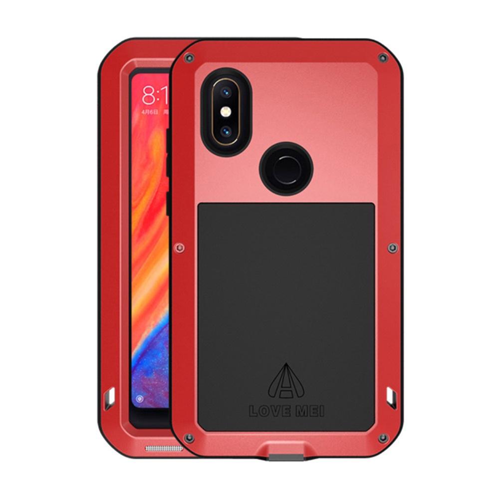 Чехол для сотового телефона Мобильная Мода Xiaomi Mi Mix 2s Пылезащитный ударопрочный брызгозащищенный металлический защитный чехол LOVE MEI, красный чехол mei lai china