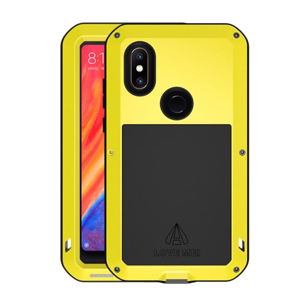 Чехол для сотового телефона Мобильная Мода Xiaomi Mi Mix 2s Пылезащитный ударопрочный брызгозащищенный металлический защитный чехол LOVE MEI, желтый чехол mei lai china