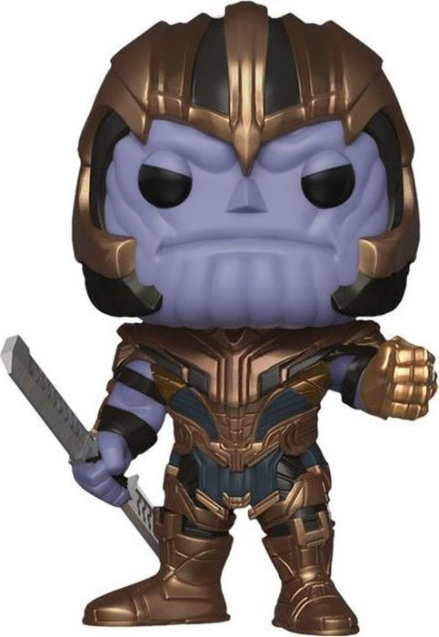 Фигурка Funko POP! Bobble: Marvel: Avengers Endgame: Thanos 36672 avengers figure set thanos corvus glaive proxima midnight ebony maw supergiant cull obsidian action figures marvel toys 6pcs set