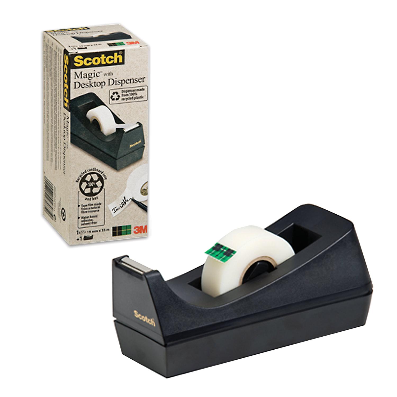 Диспенсер для скотча SCOTCH настольный, без ленты, для лент шириной до 19 мм, (3М, США), 70005031102 диспенсер для клейкой ленты упаковочной k 275 мм