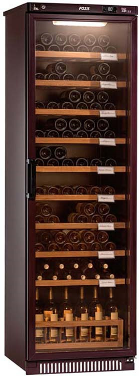 Винный шкаф Pozis ШВ-120, серебристый винный шкаф pozis швд 78 коричневый