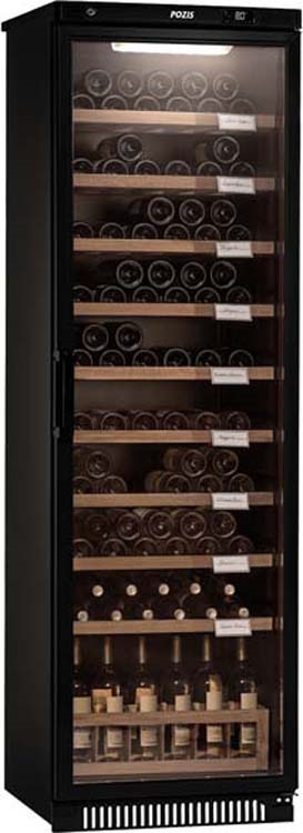 Винный шкаф Pozis ШВ-120, черный винный шкаф pozis швд 78 коричневый