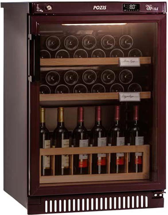 Винный шкаф Pozis ШВ-39, серебристый винный шкаф pozis швд 78 коричневый