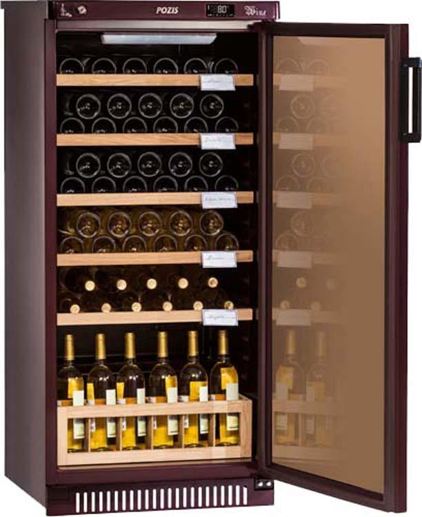 Винный шкаф Pozis ШВ-52, серебристый винный шкаф pozis швд 78 коричневый