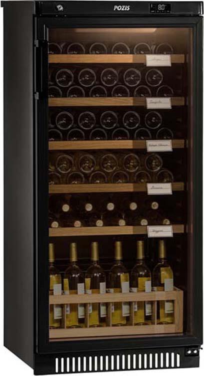 Винный шкаф Pozis ШВ-52, черный винный шкаф pozis швд 78 коричневый