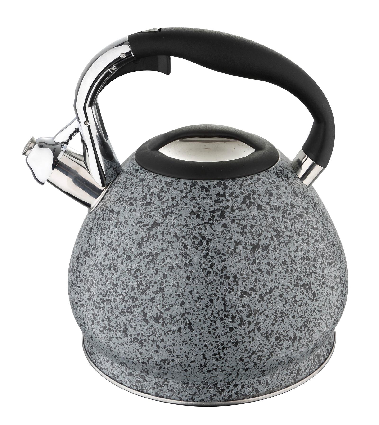 Чайник Bergner 3,4 л со свистком, 5891BG, серый, серый металлик чайник carl schmidt sohn aquatic со свистком цвет серый металлик 5 л