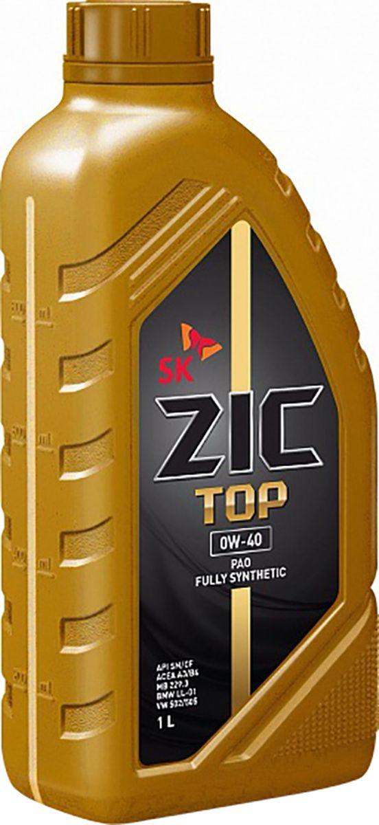 Моторное масло ZIC Top, синтетическое, 0W-40, 1 л