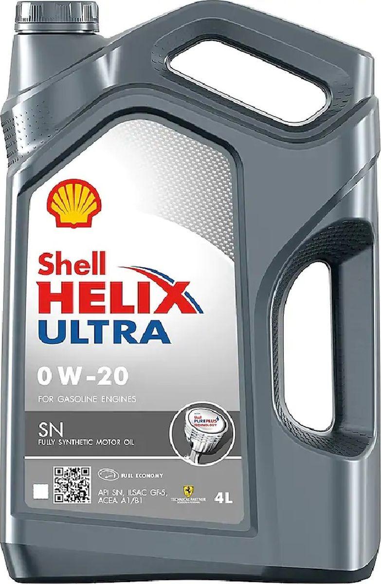 Моторное масло Shell Ultra, синтетическое, 0W-20, 4 л