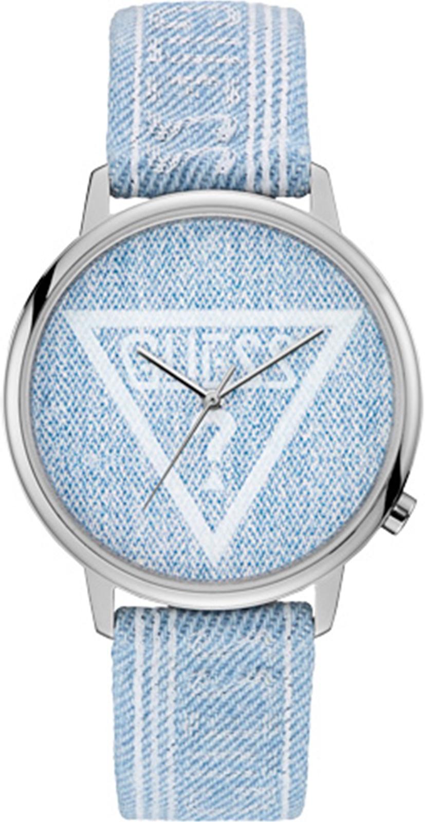 Наручные часы Guess Originals Hollywood + Main двухшпеньковый кожаный ремень джинсовый