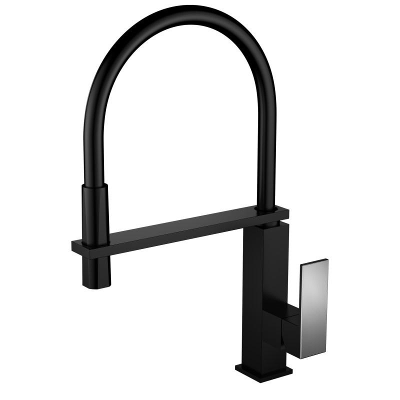 Смеситель Ganzer Rein GZ16037C для кухни, цвет, черный16037CМатериал корпуса - латунь категории АЦвет - ЧерныйТолщина корпуса - 2,6мм – 3,2ммКартридж - ИспанияПодводка - гайка латунь, оплетка нерж 304, резина EPDMГарантия - 5 лет