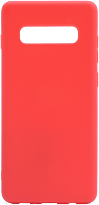 Чехол для сотового телефона GOSSO CASES для Samsung Galaxy S10+ Soft Touch red, красный