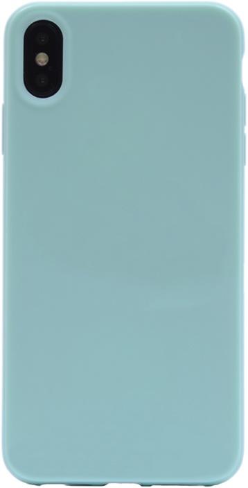 Чехол для сотового телефона GOSSO CASES для Apple iPhone XS Max Gloss blue, голубой телефон dect gigaset l410 устройство громкой связи