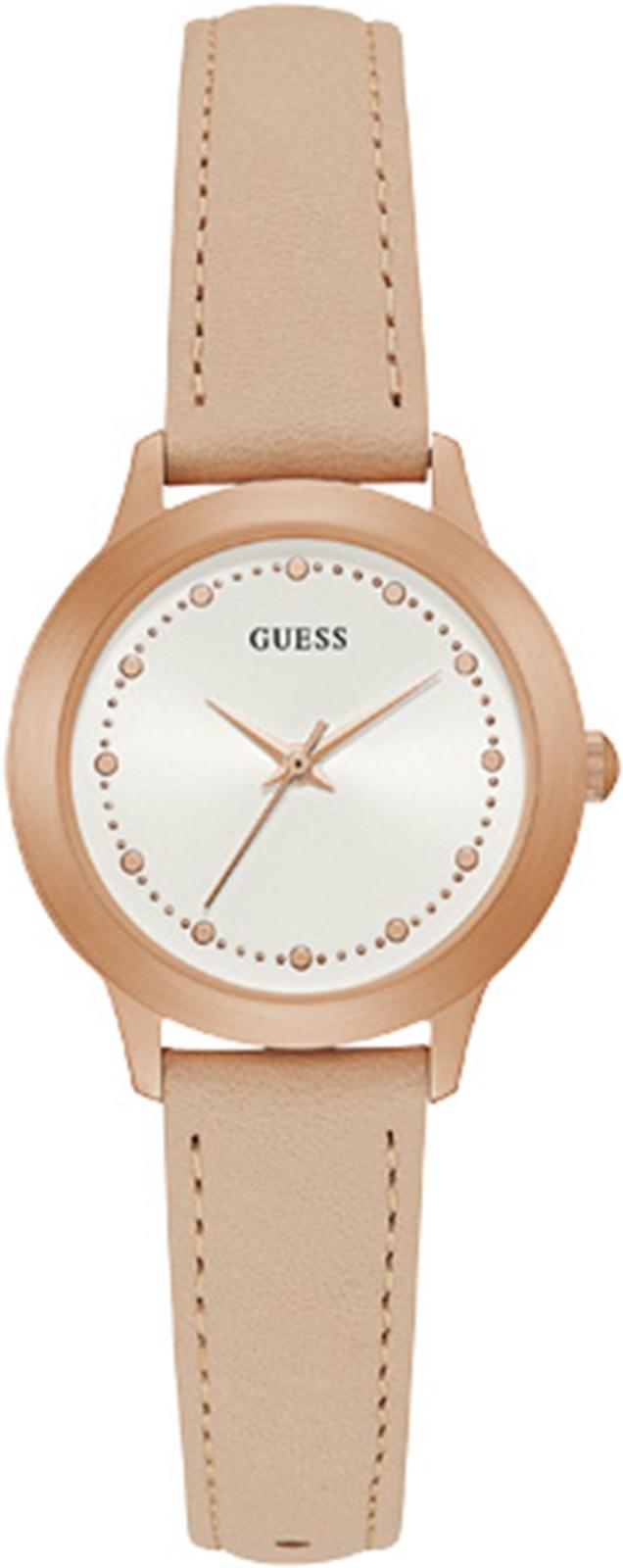 лучшая цена Часы Guess CHELSEA, бежевый, светло-бежевый, золотой