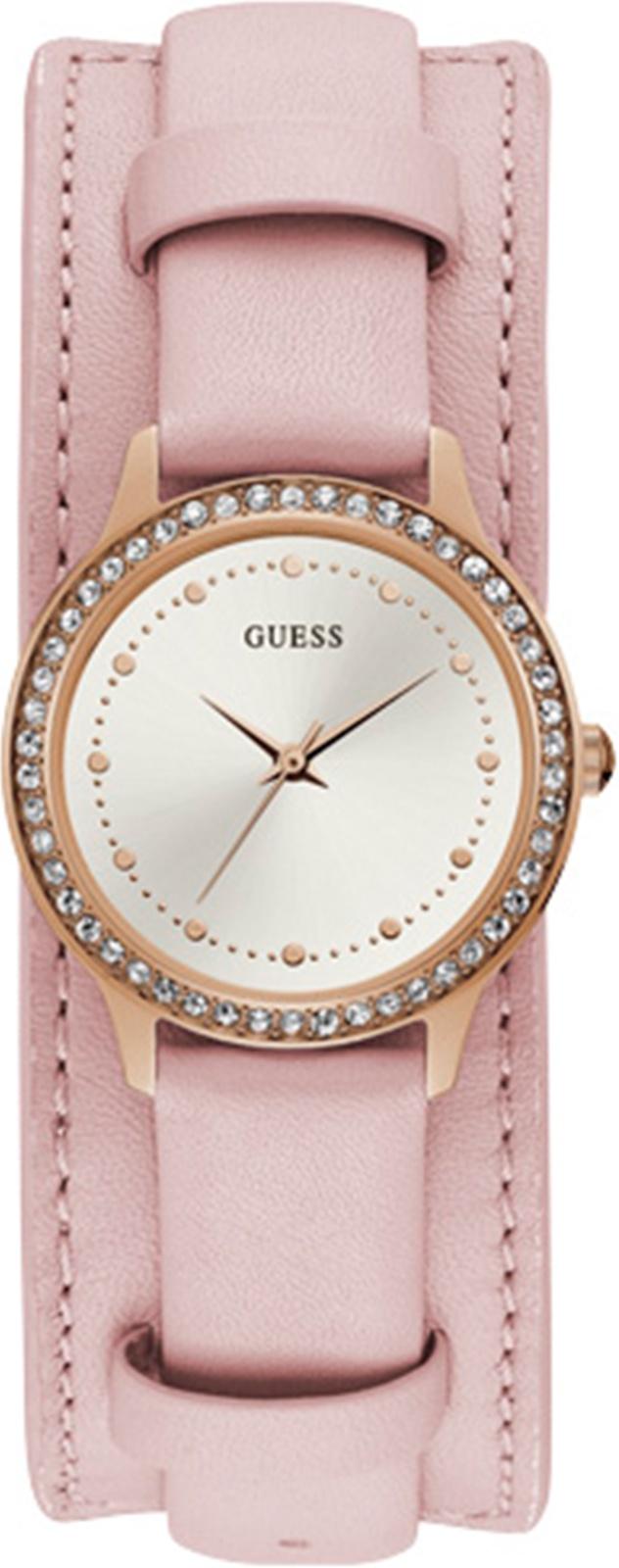 Часы Guess CHELSEA, розовый, золотой, белый guess ремень