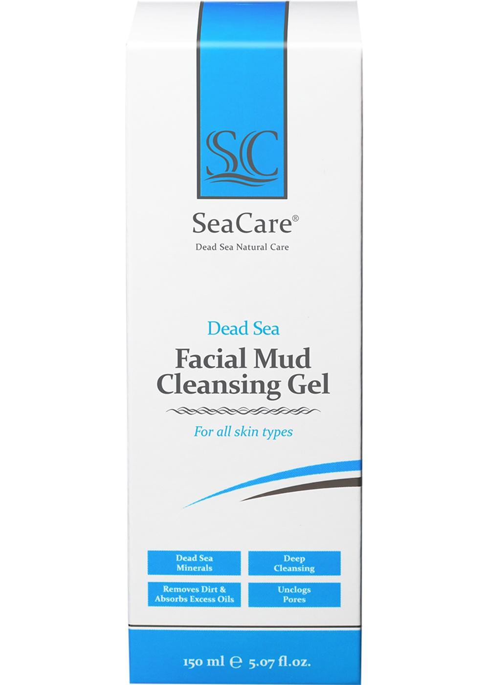 Грязевой очищающий гель для лица с минералами Мертвого Моря и пентавитином, 150 мл, SeaCare SeaCare