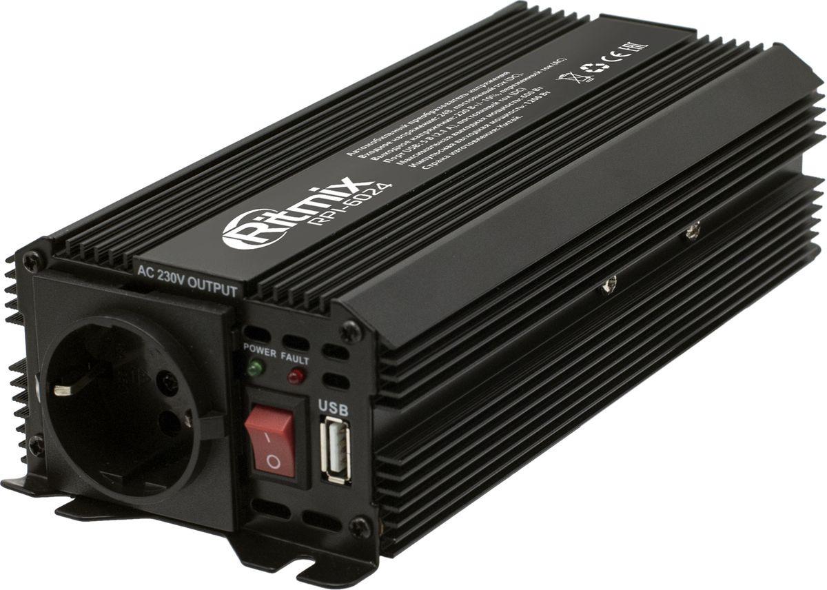 цена на Автоинвертор Ritmix RPI-6024, 15119887, черный