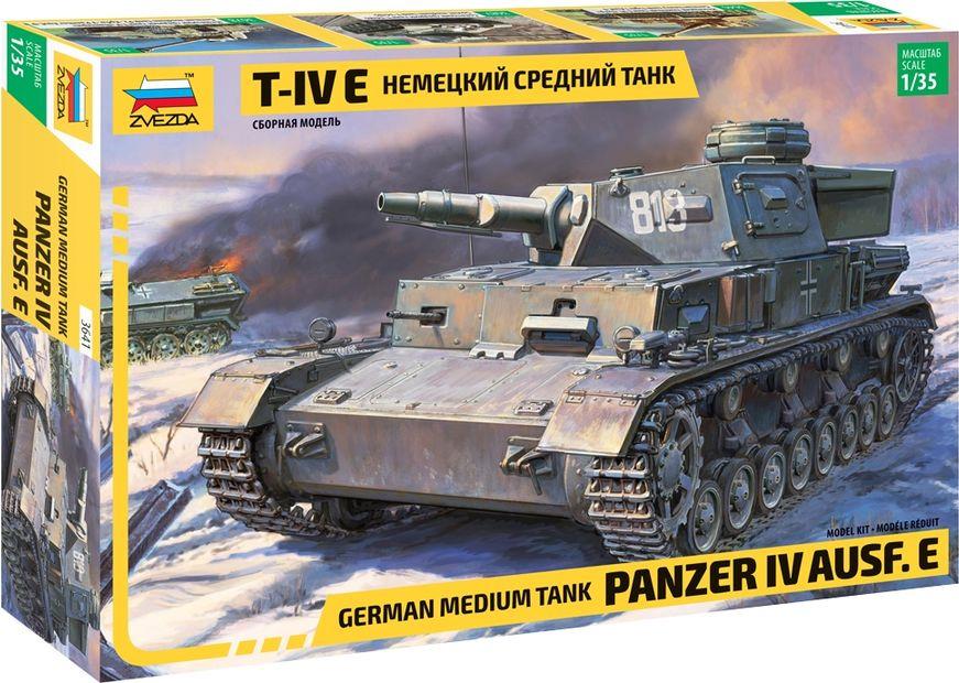 """Модель танка Звезда """"Немецкий средний танк T-IV E"""", 3641"""