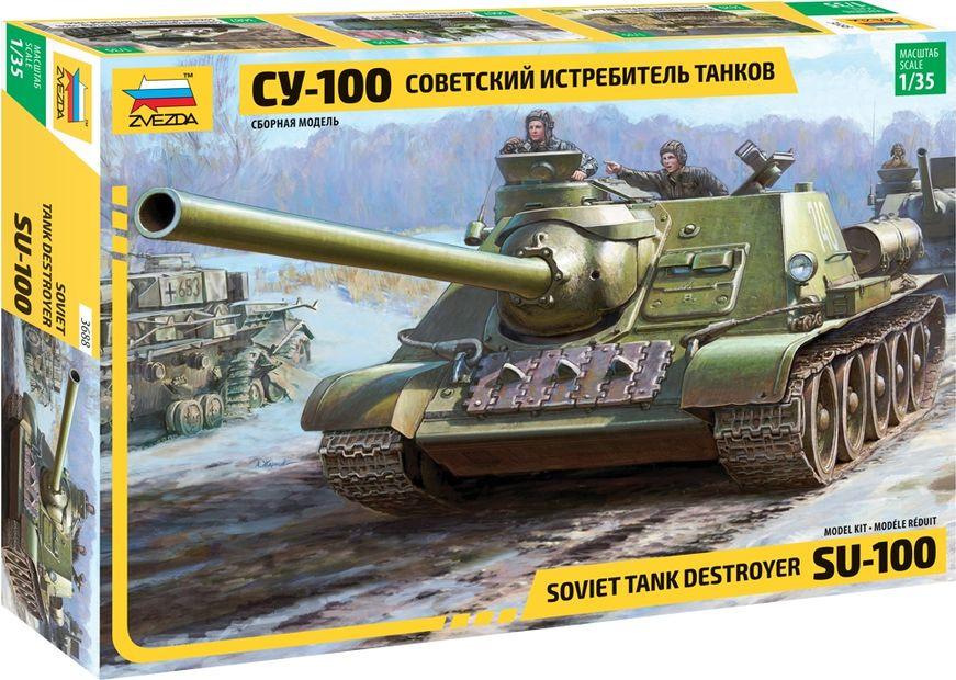 цена на Модель военной техники Звезда Советский истребитель танков СУ-100, 3688