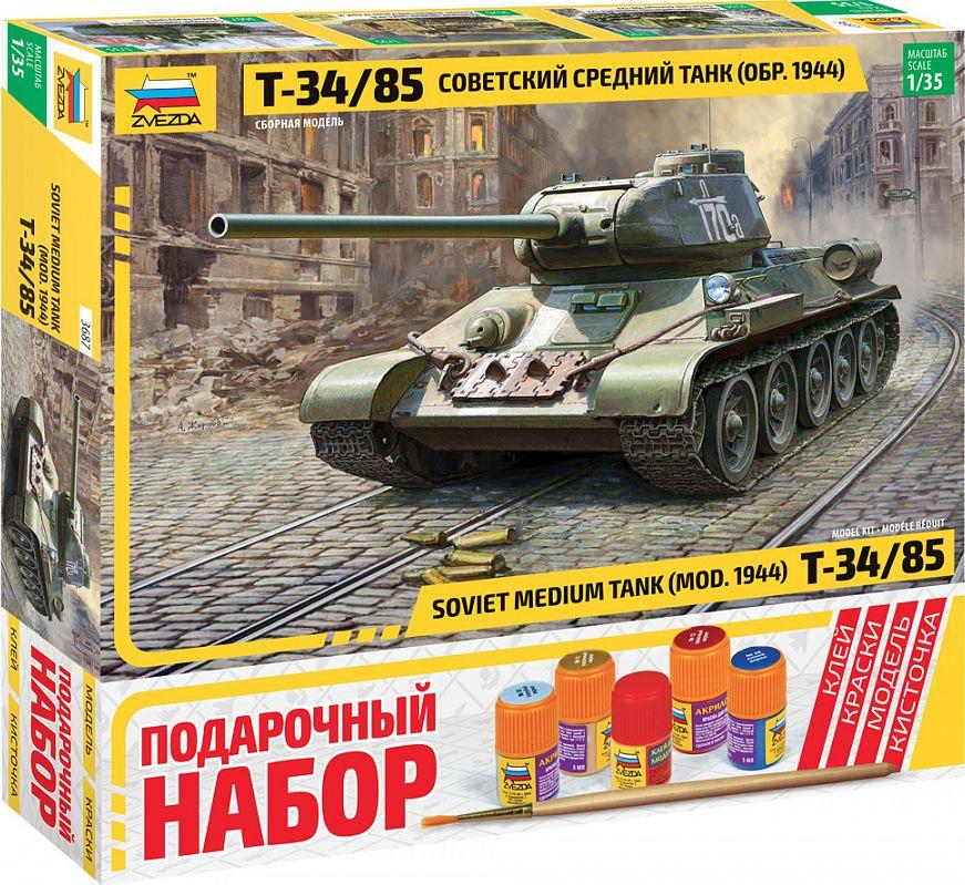 цена на Модель танка Звезда Советский средний танк Т-34/85 образца 1944, 3687П