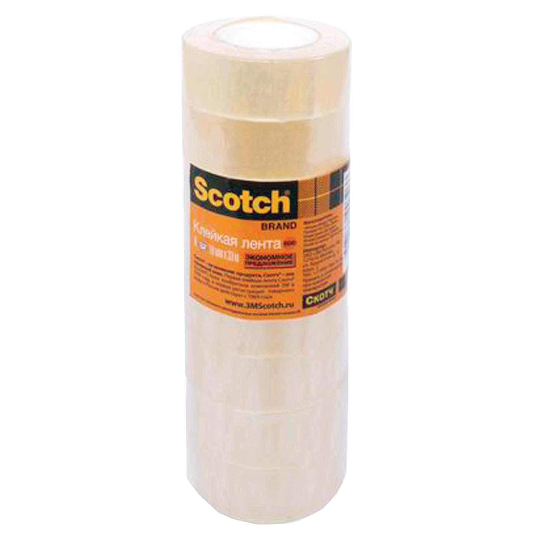 Скотч SCOTCH Клейкие ленты 19 мм х 33 м канцелярские, комплект 8 шт., 45 мкм