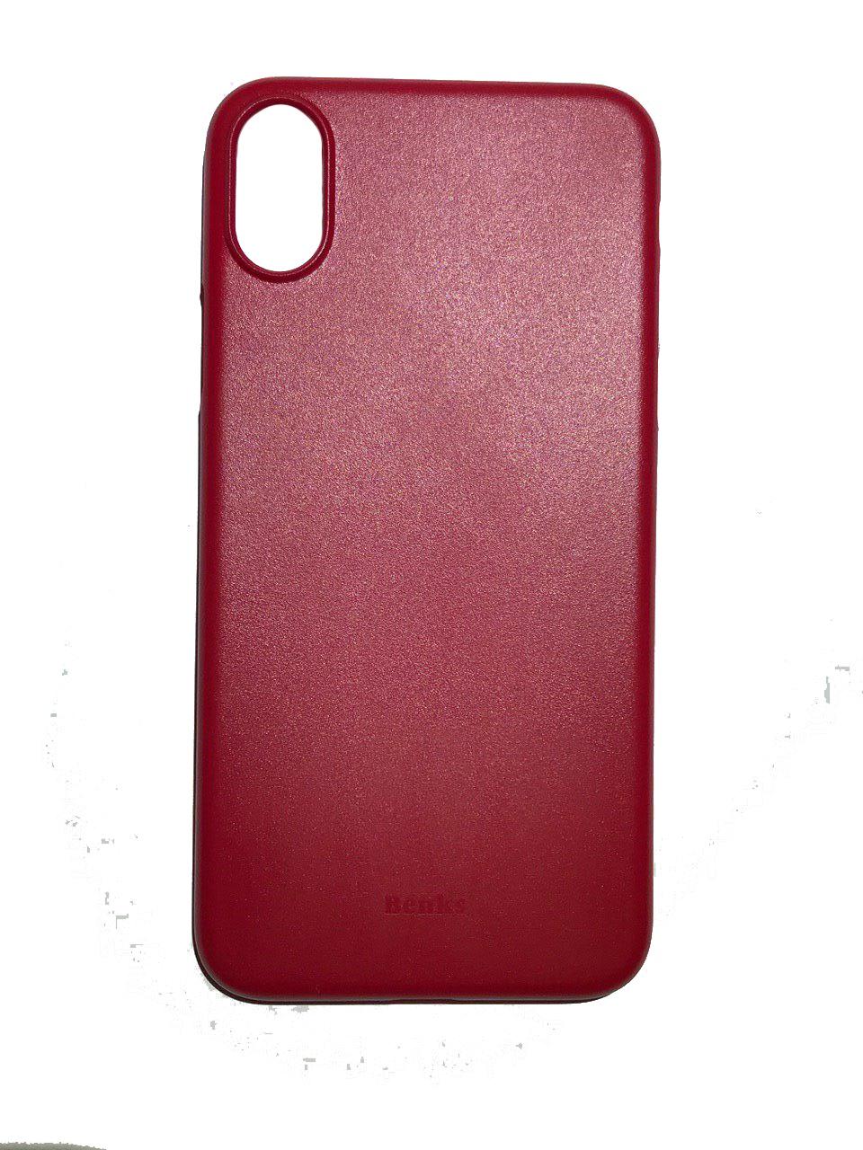 Чехол для сотового телефона Benks Чехол for iPhone X пластик (Red), красный glare free screen protector with cleaning cloth for iphone 3g