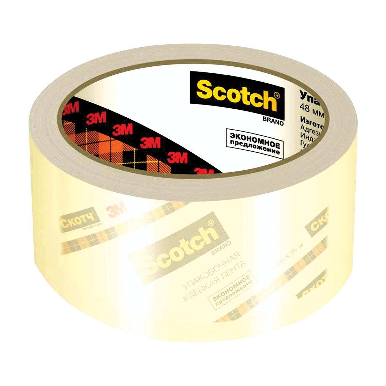 Скотч SCOTCH Клейкая лента 48 мм х 50 м, упаковочная, прозрачная упаковочная клейкая лента scotch с повышенной клейкостью 50мм x 50 м коричневая