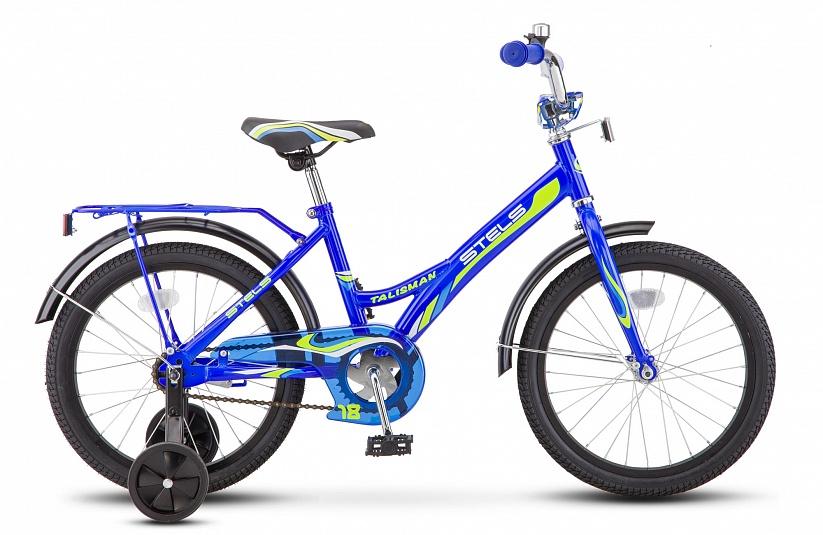 Велосипед Stels Talisman 14 Z010, синийZ010-10Детский велосипед для катания в городе, парке и на даче. Яркий выделяющийся дизайн непременно понравится всем детям. Благодаря низкой раме ребёнку всегда комфортно залезать и слезать, и не нужно тянуться до руля. Цепь велосипеда полностью закрыта, тем самым не допускается случайное попадание ноги в привод.