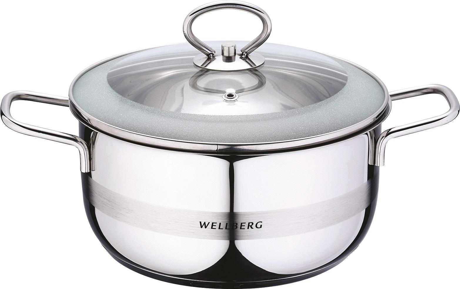 Кастрюля Wellberg 2,8 л с крышк., 08043WB 2,8 л