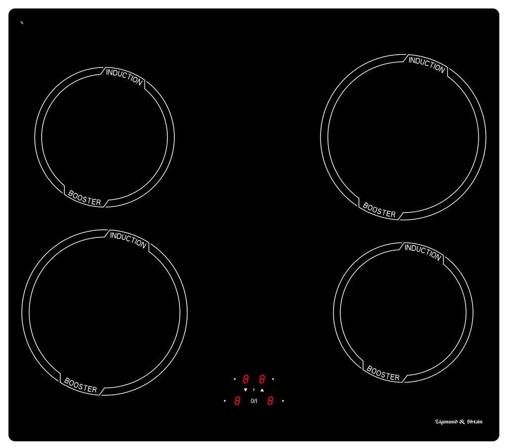 Варочная панель  CIS 028. 60 BX, черный 4бустера Фронтальное сенсорное управление 9 уровней нагрева Таймер...