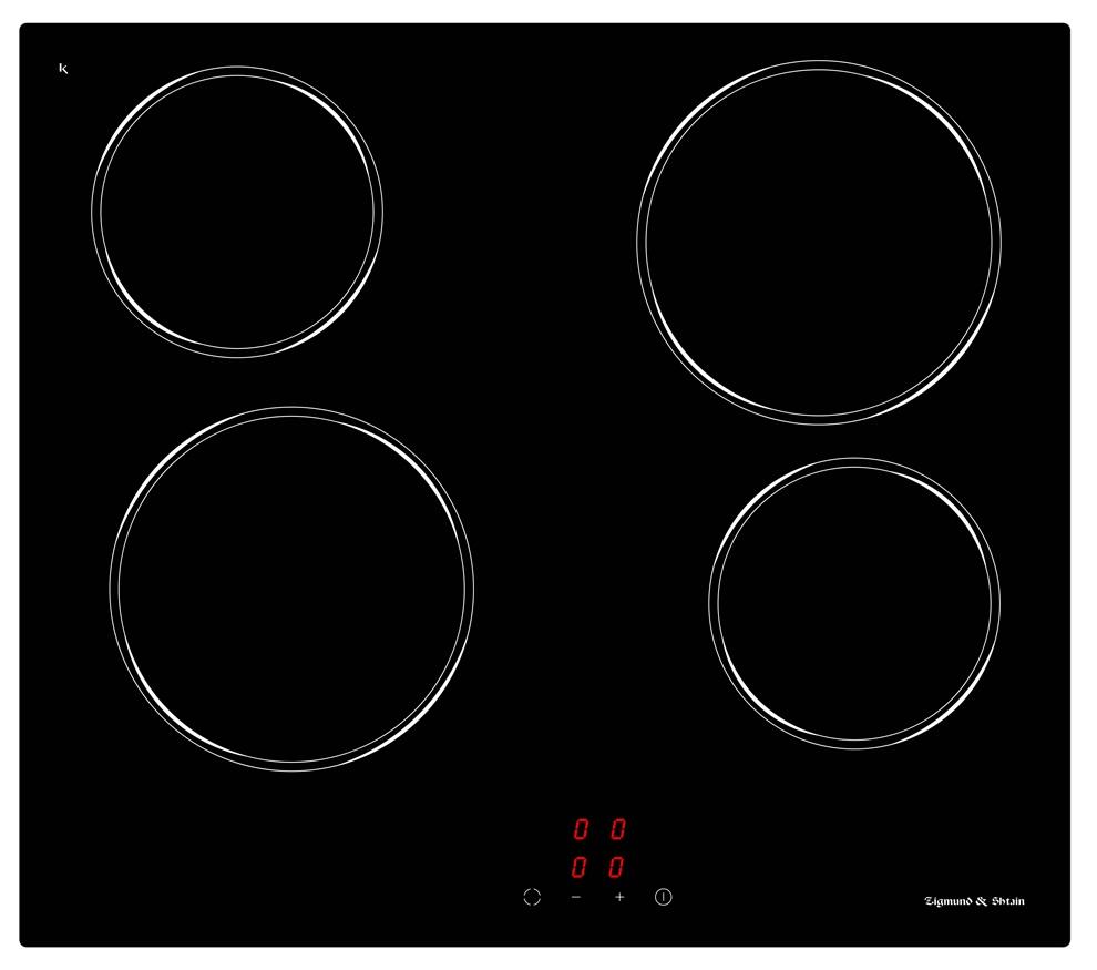 Варочная панель  CNS 027. 60 BX, черный •Фронтальное сенсорное управление • 9 уровней нагрева • Цифровая...
