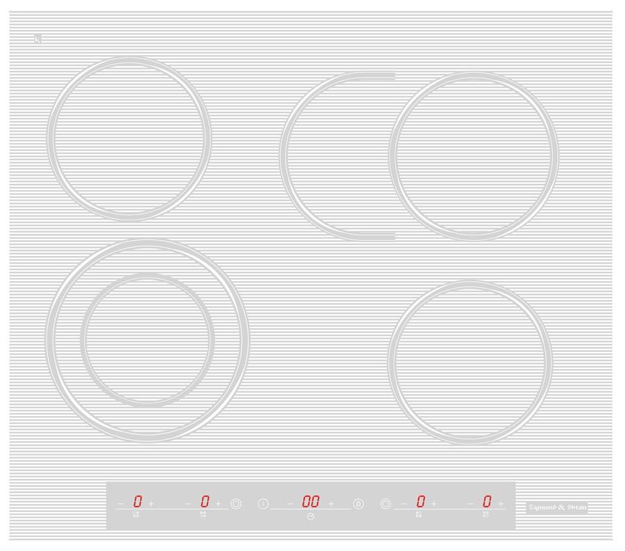 Варочная панель  CNS 259. 60 WX, белый 9уровней нагрева Фронтальное сенсорное управление Индикация...