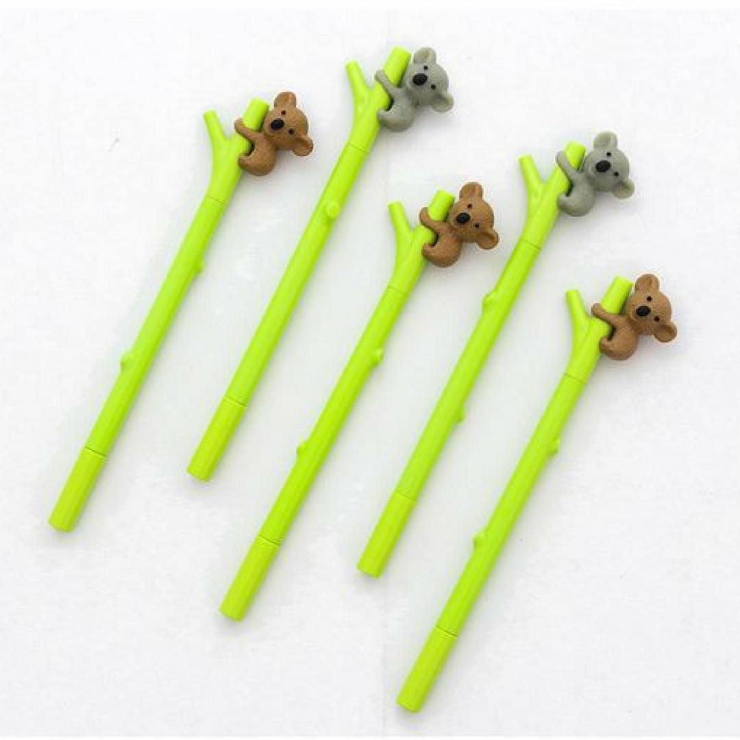 Набор ручек Fidget Go Коала на бамбуке, 12 шт. в комплекте, зеленый формочки для кекса fidget go сердце 6 шт
