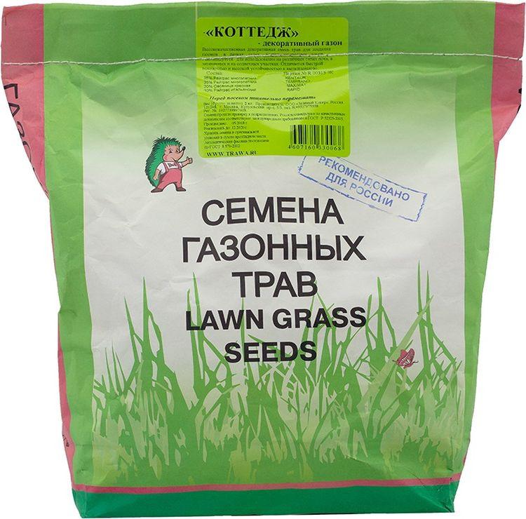 Семена Зеленый ковер Декоративный газон Коттедж, 2 кг4607160330068Декоративный газон КОТТЕДЖ-высококачественная декоративная смесь трав, для создания газонов в парках, садах, вокруг загородных домов. Рекомендуется для использования на различных типах почв, в затененных и на солнечных участках. Отличается быстрой всхожестью и высокой устойчивостью к вытаптыванию.