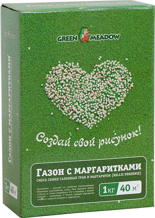 Семена Green Meadow Газон с маргаритками Создай свой рисунок, 1 кг найденская н г трубецкова и а триумф черного платья создай свой неповторимый стиль