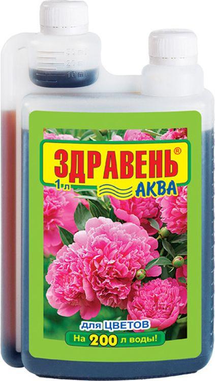 Удобрение для садовых цветов Здравень Аква Opti Doza, 1 л