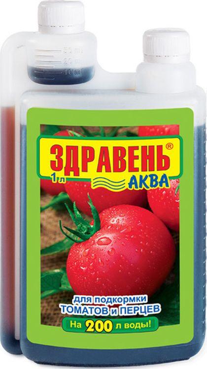 Удобрение Здравень Аква Opti Doza для томатов и перцев, 1 л удобрение florizel гелеобразное органическое биогумус для томатов и перцев 350мл