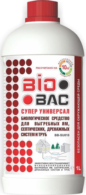 Средство для септиков и биотуалетов BioBac Супер универсал биологическое, 1 л