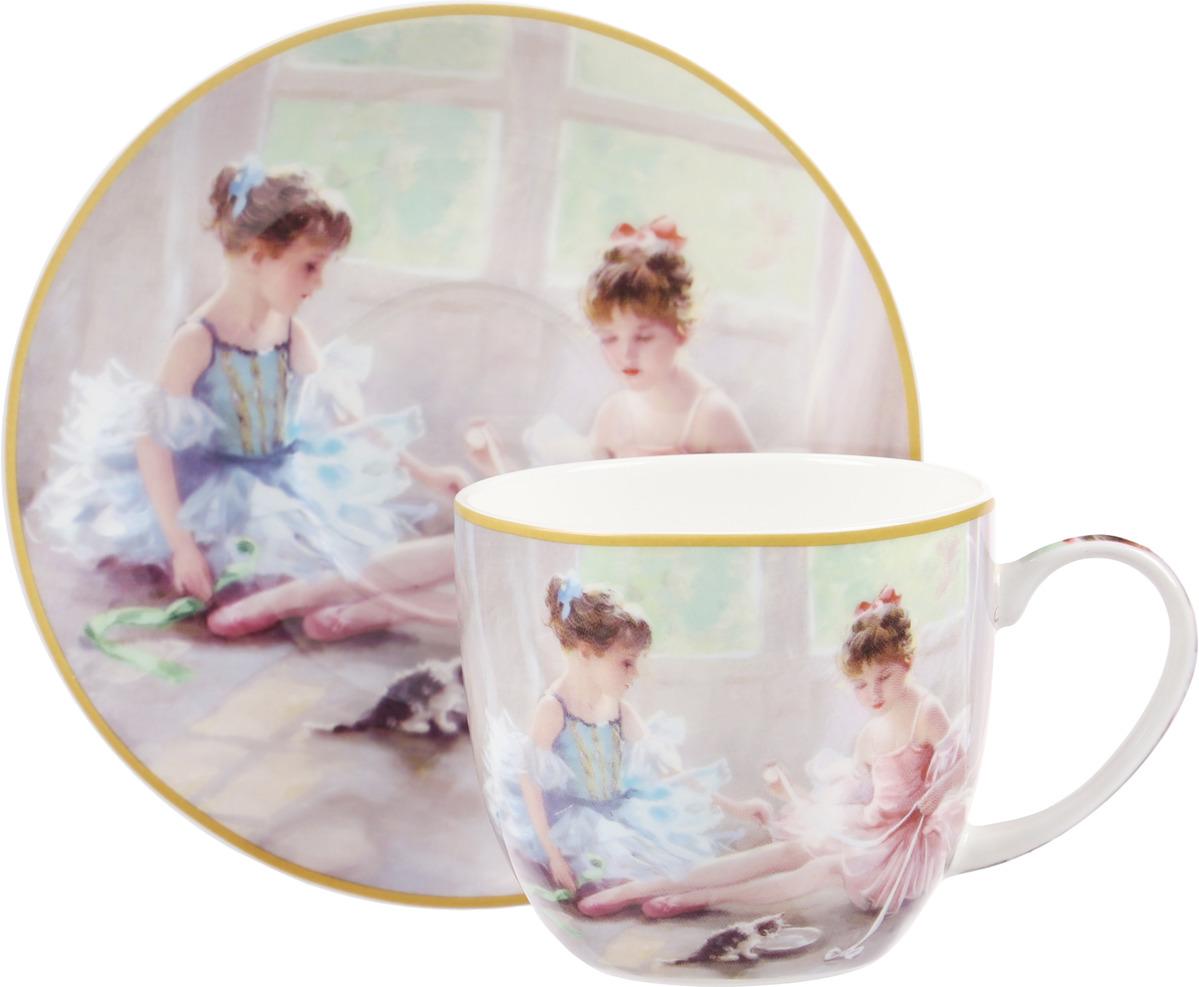 Чайная пара Carmani Балерины у окна, 2 предмета балерины