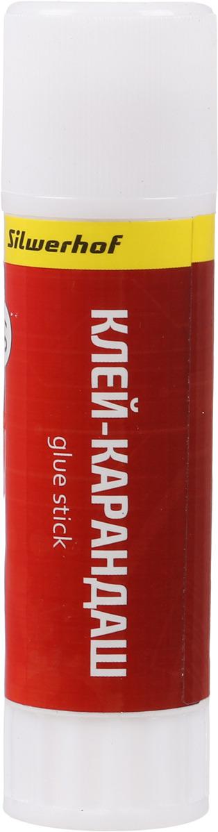 Клей-карандаш Silwerhof, 40 гр клей карандаш окно расхода 21 гр igs421