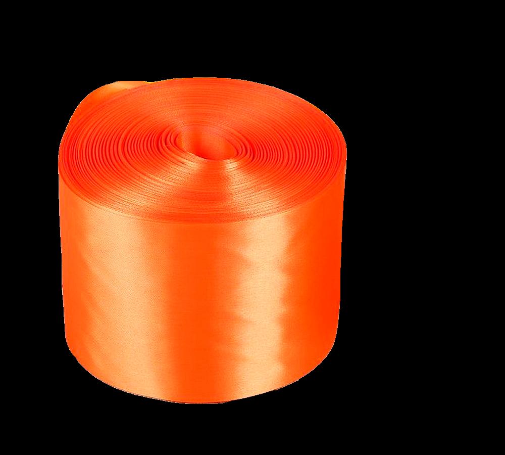 Лента Свадьба атласная, оранжевый, ширина 10см, длина 98м лента свадьба атласная сиреневая ширина 10см длина 98м