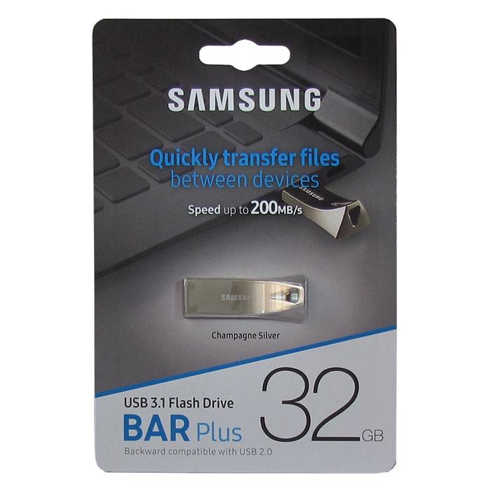 Фото - USB Флеш-накопитель Samsung BAR Plus USB 3.1 32GB, серебристый видео