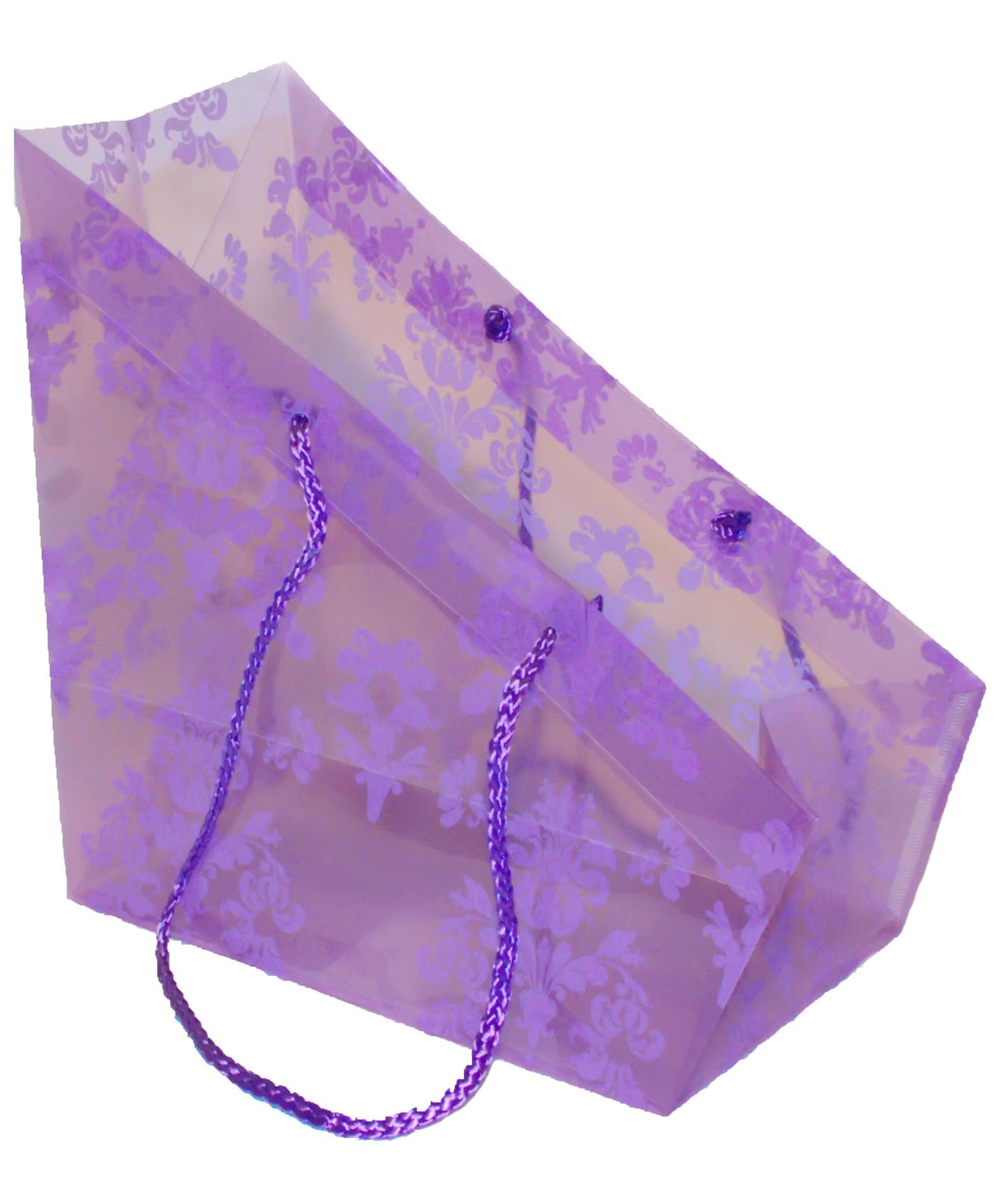 Подарочная упаковка Трапеция, фиолетовый