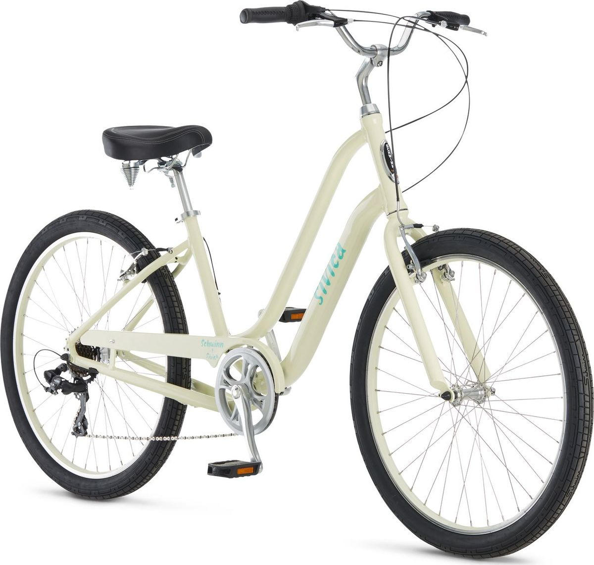 Велосипед городской Schwinn Sivica 7 Women, колесо 26, бежевый, 7 скоростей