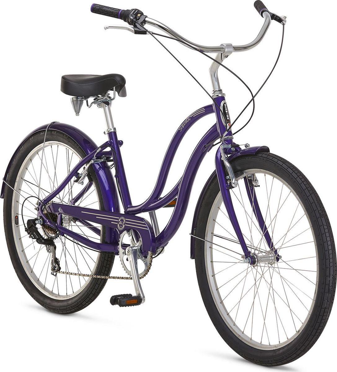 Велосипед городской Schwinn ALU 7 Women, колесо 26, фиолетовый, 7 скоростей